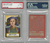 1952 Topps, Look 'N See, #102 Anne of Cleves, Queen England, PSA 6 EXMT