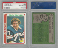 1978 Topps Football, #492 Troy Archer, Giants, PSA 10 Gem