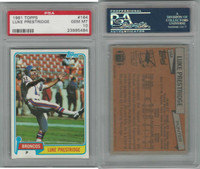1981 Topps Football, #164 Luke Prestridge, Broncos, PSA 10 Gem