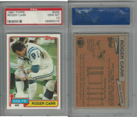 1981 Topps Football, #245 Roger Carr, Colts, PSA 10 Gem