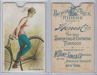N100 Duke, Bicycle & Trick Riders, 1890, Riding Backward