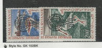 Mauritania, Postage Stamp, #C14a, C15a Mint Hinged, 1962, JFZ