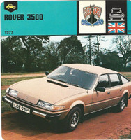 1978 Edito-Service, Automobile Rally Card, #01.07 Rover 3500 Car