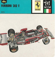 1978 Edito-Service, Automobile Rally Card, #01.09 Ferrari 312T Race Car