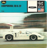 1978 Edito-Service, Automobile Rally Card, #01.11 Caparral 2D & 2F Race Car