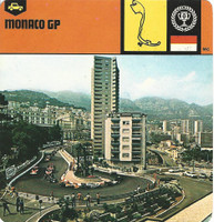 1978 Edito-Service, Automobile Rally Card, #01.17 Monaco Gran Prix Race