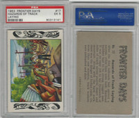 1953 Bowman, Frontier Days, #17 Hazards Of Track Laying, PSA 5 EX