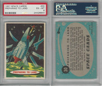 1957 Topps, Space Cards, #30 Preparing to Land, PSA 6 EXMT
