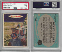 1957 Topps, Space Cards, #47 Lunar Mists, PSA 7 NM