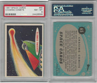 1957 Topps, Space Cards, #65 Chasing Comets, PSA 8 NMMT