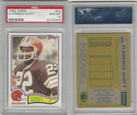 1982 Topps Football, #73 Clarence Scott, Browns,, PSA 10 Gem