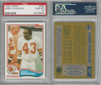 1982 Topps Football, #498 Jerry Eckwood, Buccaneers, PSA 10 Gem