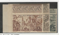 French West Africa, Postage Stamp, #C8-C10 Mint NH, 1946 World War II, JFZ