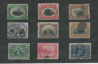 United States, Postage Stamp, #294-299, 328-330 Used, 1901-07, JFZ