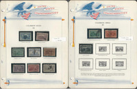 United States Stamp Collection in White Ace Album 1893-1939 Comm., JFZ