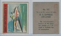 R132 Strip Card, Series of 48 - Aviation, 1938, #317 DS Express Air Liner (B)