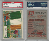 1956 Topps, Flags of the World, #15 Ireland, PSA 7 NM