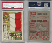 1956 Topps, Flags of the World, #20 Indonesia, PSA 5 EX