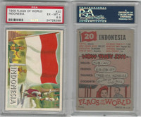 1956 Topps, Flags of the World, #20 Indonesia, PSA 6.5 EXMT+