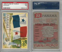 1956 Topps, Flags of the World, #22 Panama, PSA 7 NM