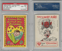 1959 Topps, Funny Valentines, #26 You're the Girl of My, PSA 8 NMMT