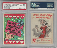 1959 Topps, Funny Valentines, #30 To the Prettiest Girl in, PSA 8 NMMT