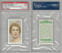 G12-100 Gallaher, Stars Of Screen & Stage, 1935, #10 Marie Tempest, PSA 7 NM