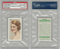 G12-100 Gallaher, Stars Of Screen & Stage, 1935, #11 Edna Best, PSA 8.5 NMMT+