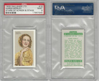 G12-100 Gallaher, Stars Of Screen & Stage, 1935, #16 Karen Morley, PSA 9 Mint