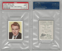 J0-0 Jibco Tea, Screen Stars, 2nd, 1956, #14 Donald Sinden, PSA 9 Mint