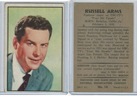 1953 Bowman, TV & Radio Stars NBC, #14 Russell Arms
