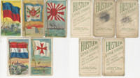 T59 Hustler Tobacco Cards, 1910, Flags Nations, Lot of 5 Different, PHX