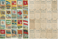 T59 Jack Rose Tobacco Cards, 1910, Flags Nations, Lot of 20 Different, PHX
