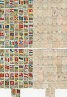 T59 Recruit Tobacco Cards, 1910, Flags Nations, Lot of 79 Different, PHX