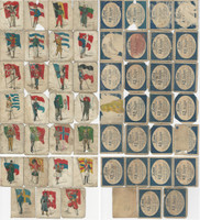 T105 Zira Tobacco Cards, 1910, Standard Bearers Flags, Lot of 27 Different, PHX
