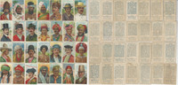 T113 Recruit Tobacco Cards, 1910, Types Nations, Lot of 28 Different, PHX