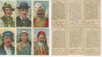 T113 Scrap Iron Tobacco Cards, 1910, Types Nations, Lot of 6 Different, PHX
