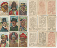 T113 Hustler- Big Run Tobacco Cards, 1910, Types Nations, Lot 9 Different, PHX