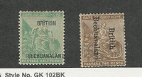 Bechuanaland, Postage Stamp, #39, 40 Mint Hinged, 1895-97, JFZ