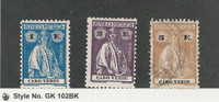 Cape Verde, Portugal, Postage Stamp, #183R-183S Mint, 183T Used, JFZ