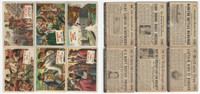 1954 Topps, Scoop, History Cards, Lot of 6, Civil War & Pirates