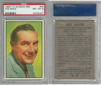 1953 Bowman, TV & Radio Stars NBC, #46 Ted Mack, PSA 8 NMMT