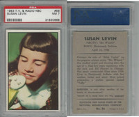 1953 Bowman, TV & Radio Stars NBC, #56 Susan Levin, PSA 7 NM