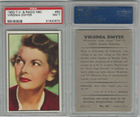 1953 Bowman, TV & Radio Stars NBC, #60 Virginia Dwyer, PSA 7 NM