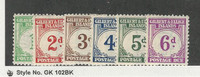 Gilbert & Ellice Islands, Postage Stamp, #J1-J6 Mint LH & NH, 1940, JFZ