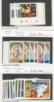 Grenada, Postage Stamp, #684-90, 827-32 Mint NH, 1063-71 Hinged Disney, JFZ