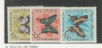 Guinea, Postage Stamp, #C47-C49 Mint NH, 1963 Butterfly, JFZ