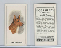 A0-0 Amaran Tea, Dogs Heads, 1965, #21 Welsh Corgi