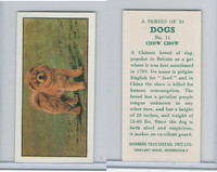 B0-0 Barbers Tea, Dogs, 1961, #11 Chow Chow