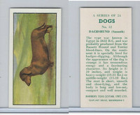 B0-0 Barbers Tea, Dogs, 1961, #12 Dachshund